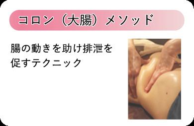 コロン(大腸)メソッド 腸の動きを助け排泄を促すテクニック